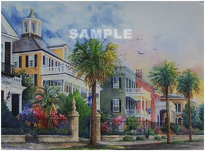 Battery Mansions Painting Print By Artist Sandra W Roper