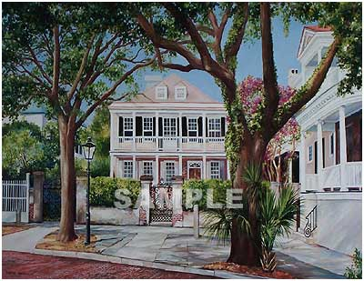 39 Church Street Painting Print By Artist Cherrie Nute