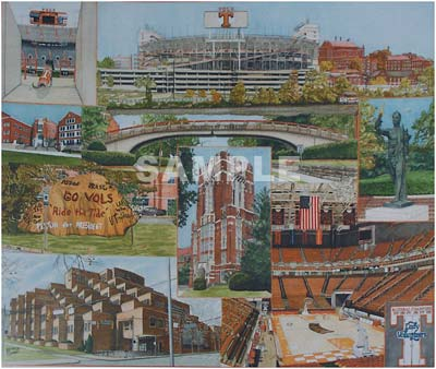 The Big Orange University Of Tennessee Painting Print By