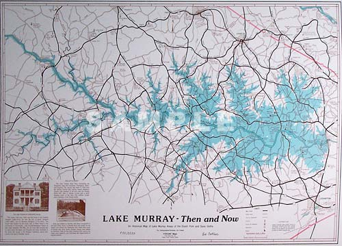 Lake Murray Then And Now Painting Print By Artist Ed Fetner