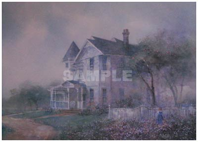 Garden Orchard Painting Print By Artist Donny Finley