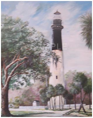 The Light At Hunting Island Painting Print By Artist Gail