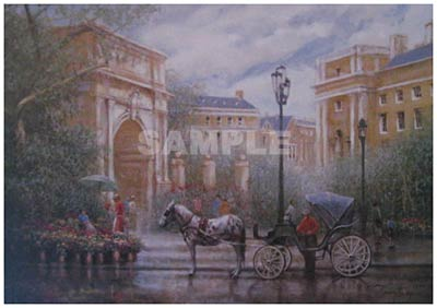 Park Entrance Painting Print By Artist Donny Finley