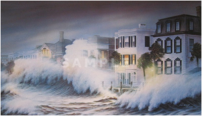Hurricane Painting Print By Artist Jim Booth